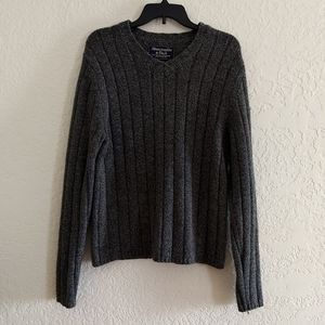 Abercrombie & Fitch Lambswool Grey Mens Sweater M